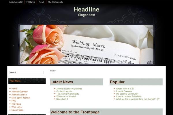Wedding Theme Joomla